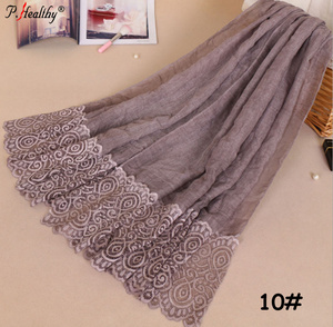 Large Maxi Lace Embroider Crochet Plain Scarf shawl