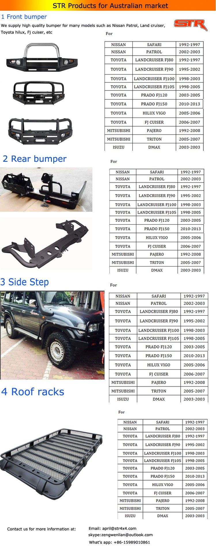 Fit Toyota Land Cruiser Fj 80 Bumper Push Bull Bar Grill Guard ...