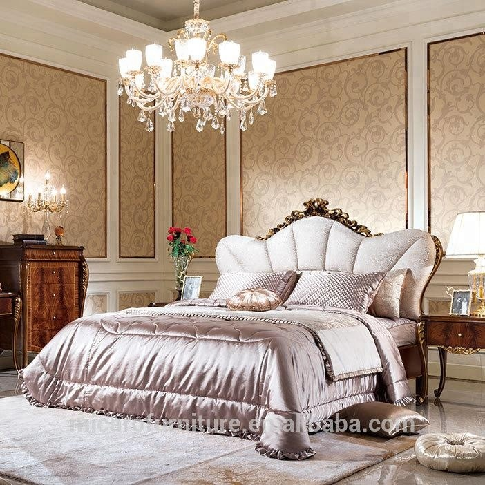 Hot sale classic king bedroom sets furniture luxury for prefab villa