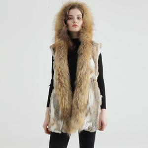 Unusual Plus Size Gilet Women Rabbit Fur Vest