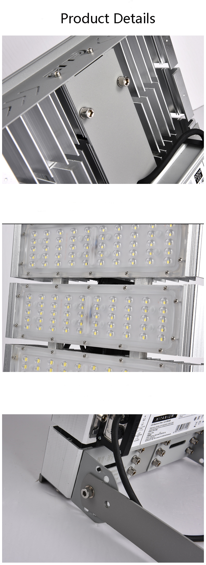 IP65 high power waterproof Bridgelux chip smd led theater tunnel lights 200w led outdoor flood light
