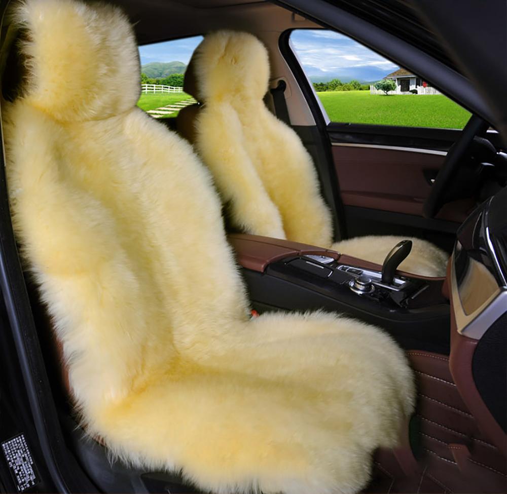 Strange 1Pcs Faux Sheepskin Car Seat Cover Short Wool Universal Fit Pabps2019 Chair Design Images Pabps2019Com