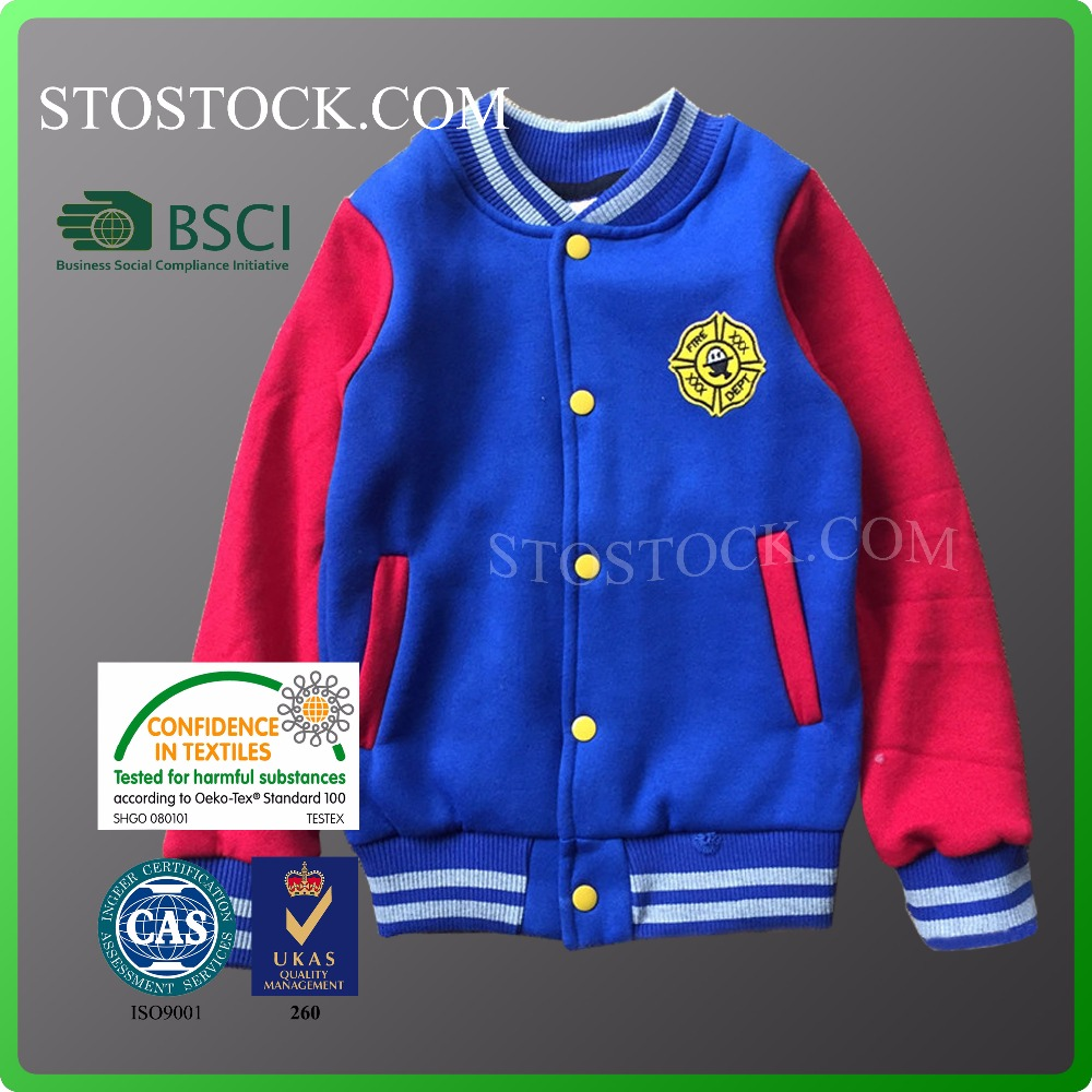 Kids garments winter collection baseball fancy Boys jacket