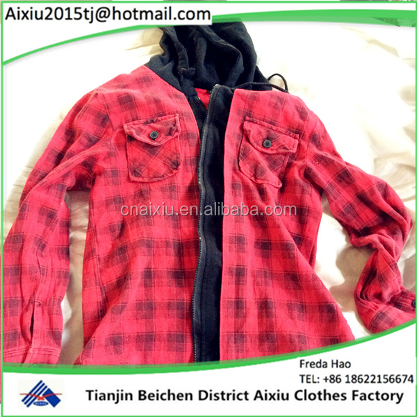 direct supply used girl's fashion coat /second hand clothing