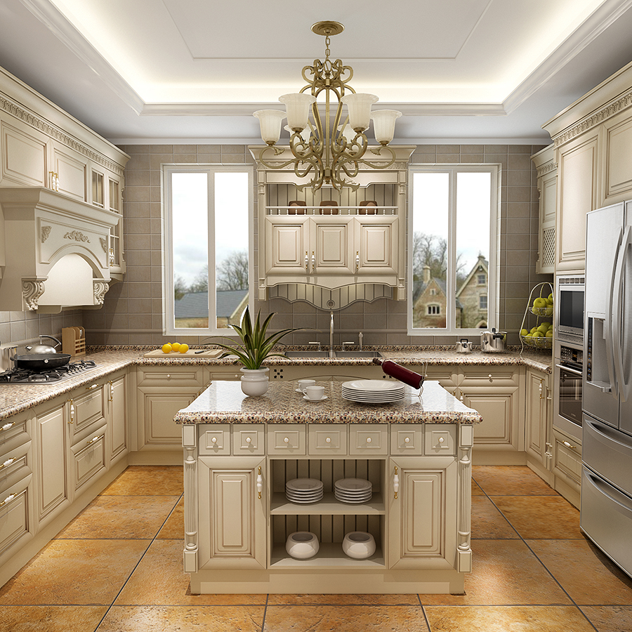 New Model Antique White Kitchen Cabinet Designs Cherry ... on Model Kitchen Images  id=11759