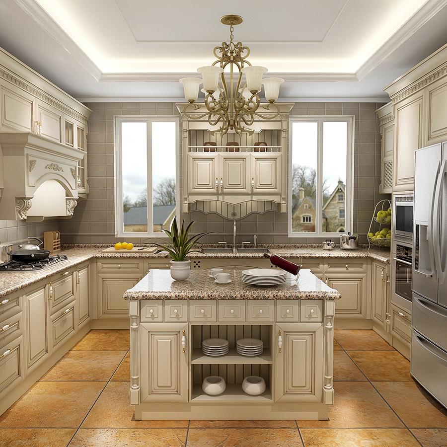 New Model Antique White Kitchen Cabinet Designs Cherry ... on Kitchen Model Design  id=89976