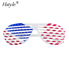 Amerikanische Flagge USA Patriotische <span class=keywords><strong>Design</strong></span> Kunststoff <span class=keywords><strong>Shutter</strong></span> Brille Shades Sonnenbrille Brillen für Party Requisiten, Dekoration SL032-AA