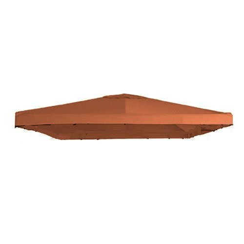 Garden Winds Signature Series 10 x 10 Single Tiered Replacement Gazebo Canopy - Terracotta