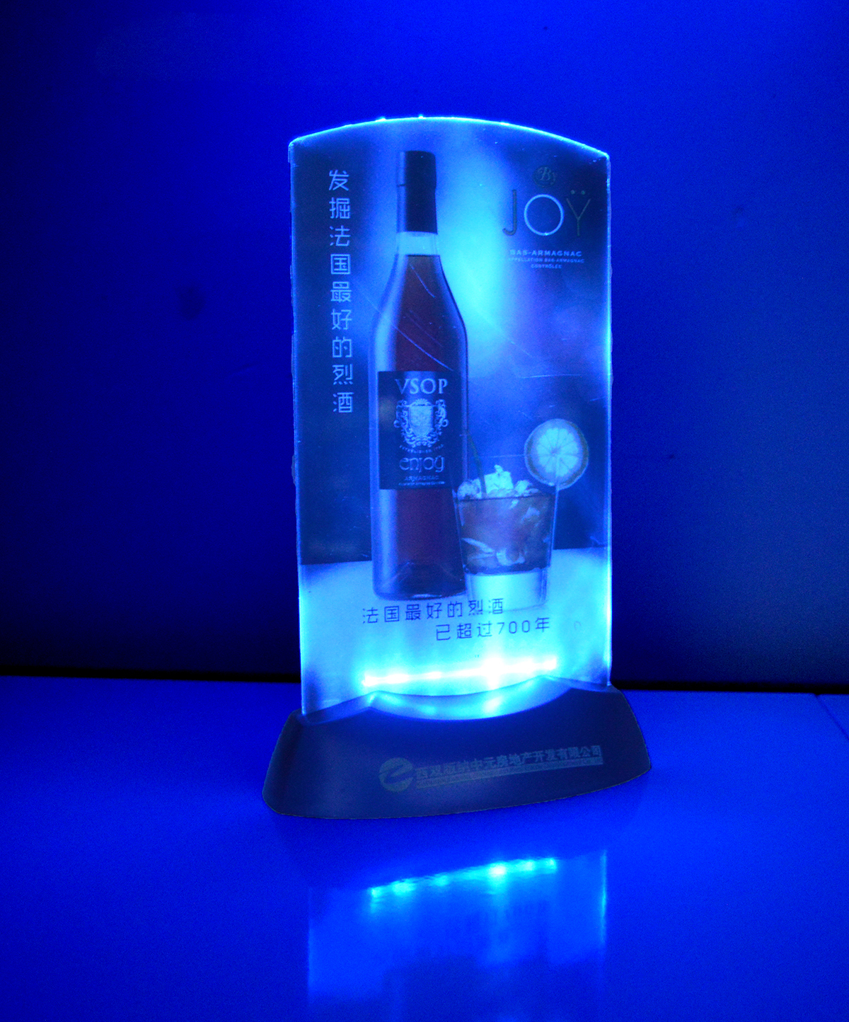 Bar Produk Lampu LED Menu Pemegang LED Mobil Dudukan Cangkir Hot Sale Lampu LED Backlit Menu