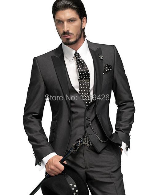 Supply New Arrival Mens Dinner Party Prom Suits Groom Tuxedos Groomsmen Wedding Blazer Suits K:1646 jacket+pants+vest+tie