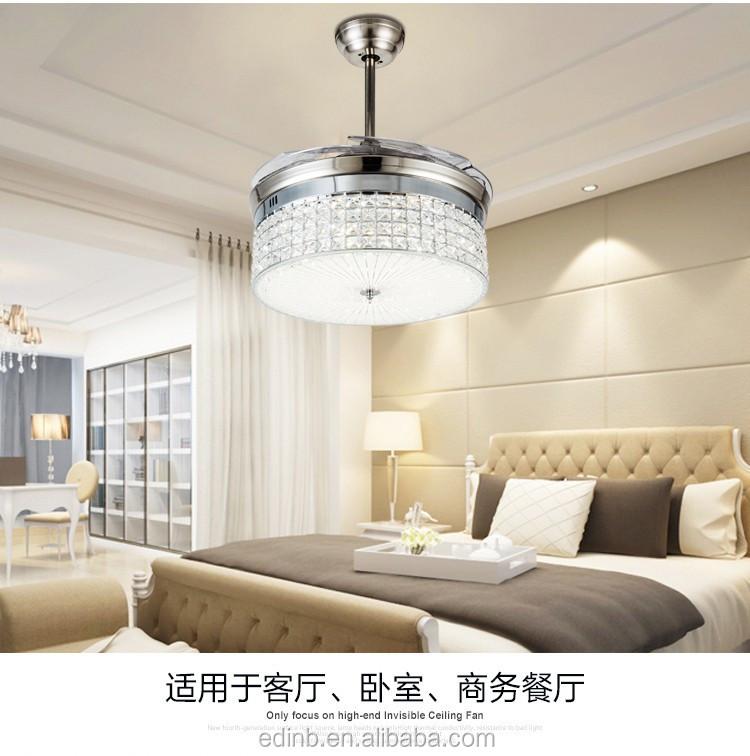 invisible pales de ventilateur cristal plafond ventilateur lumi re t l commande led plafond. Black Bedroom Furniture Sets. Home Design Ideas