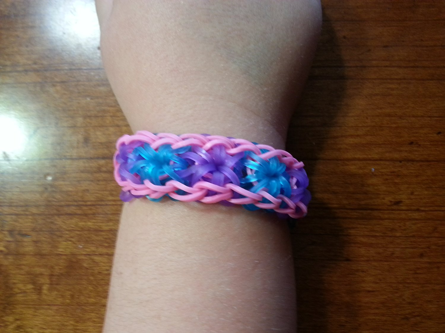 buy rainbow loom mermaid starburst bracelet pink with neon blue