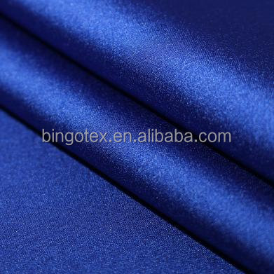 wholesale 100%polyester high quality shiny soft stretch satin fabric for garment