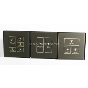 Modern Tempered Glass Electric 433mhz Wireless Light Switch for 1 gang to 5 gang