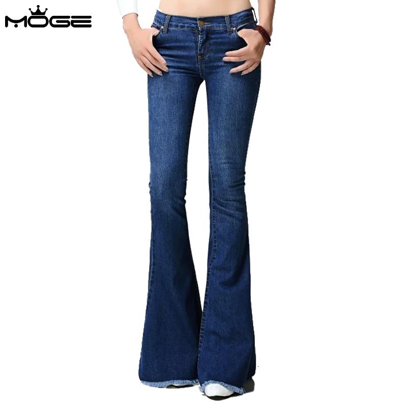 gama muy codiciada de baratas para descuento excepcional gama de colores MOGE 2016 women bootcut jeans blue denim pant jean slim ...