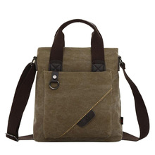 Waterproof Canvas Men Bags New Casual Retro Single Shoulder Bag High Quality Crossbody For Man