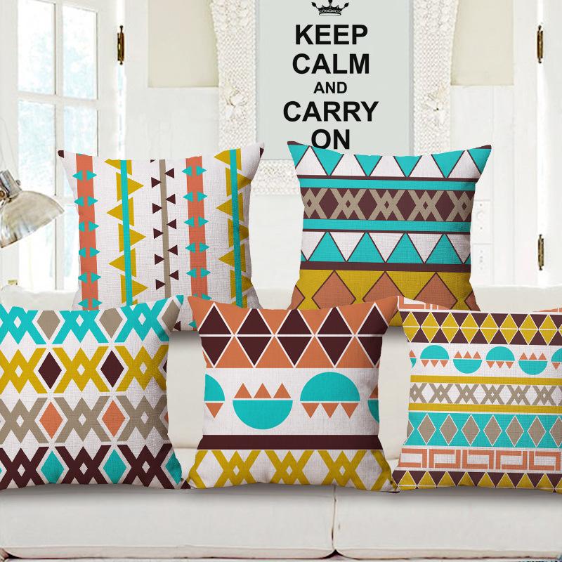 45cm 200g Semicircle Geometry Boho Thick Fashion Cotton Linen Throw Pillow Hot Sale 18 Inch New Home Decor Sofa Back Cushion MQQ