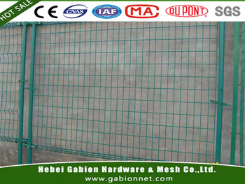 Green Vinyl Coated Welded Wire Mesh Double Loop Fencing For Boundary ...