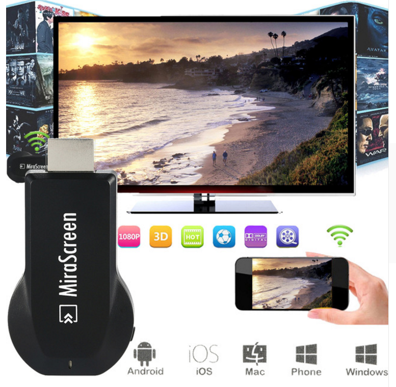 1080P miracast mirascreen wifi display <strong>dongle</strong> <strong>TV</strong> <strong>Stick</strong>