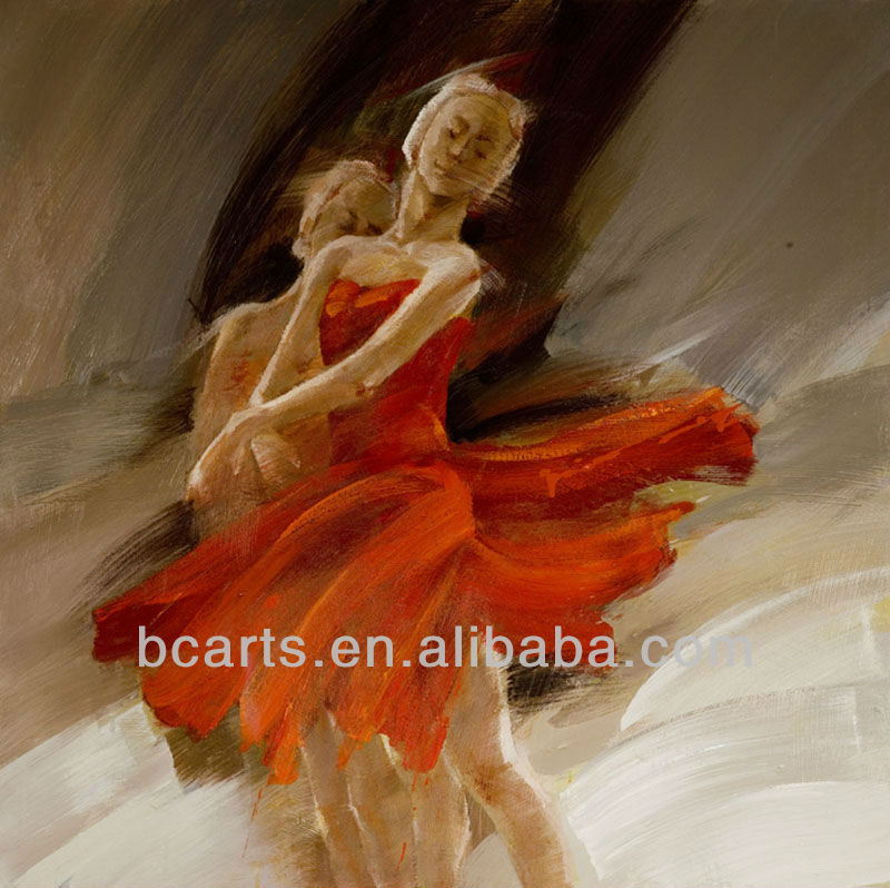 Pure hand-painted dancing girl painting, home decorative painting B