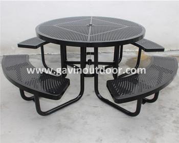 Powder coated antirust galvanized steel perforated metal picnic powder coated antirust galvanized steel perforated metal picnic table outdoor watchthetrailerfo