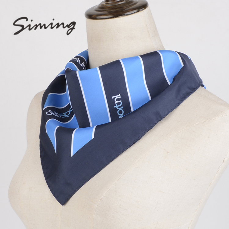 Manufactory wholesale stripe club 100% silk shawl satin portuguese sjaal scarf summer for women