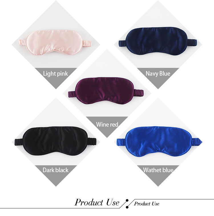 OEM su misura di colore naturale della seta di gelso di viaggi del sonno maschera per gli occhi