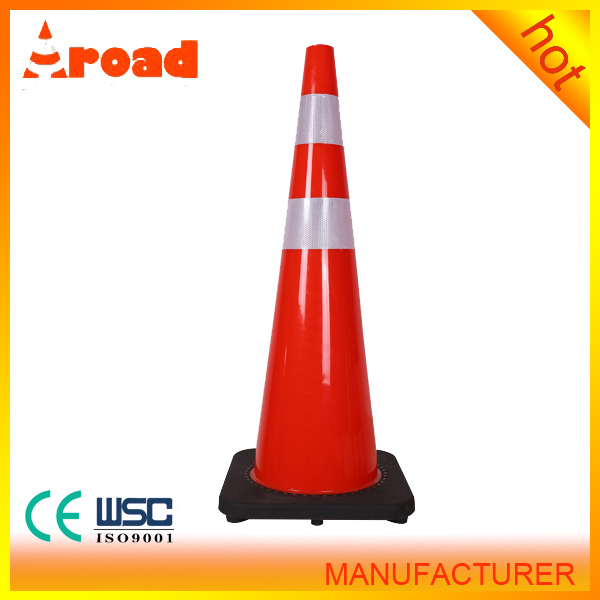 best price 36*36cm black rubber base traffic cone cost