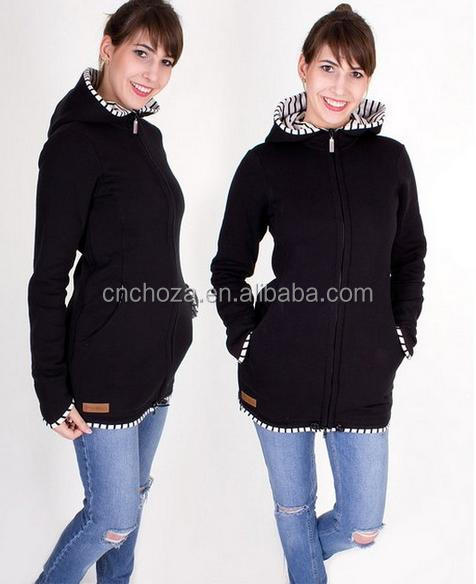 Z59040B Latest Winter Maternity Kangaroo Coat Pregnant Women Sweatshirt Hoodie For Baby Carriers