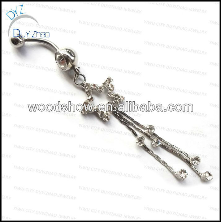 new designs stainless steel navel belly rings body piercing jewelry