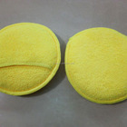 Yellow Round Microfiber Cleaning Cloth with sponge