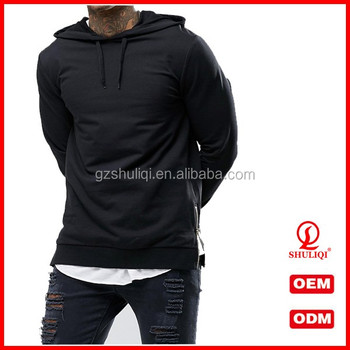 61eaf0375 Black men sweatshirt for men with round neck/custom crew neck sweatshirt  with both side