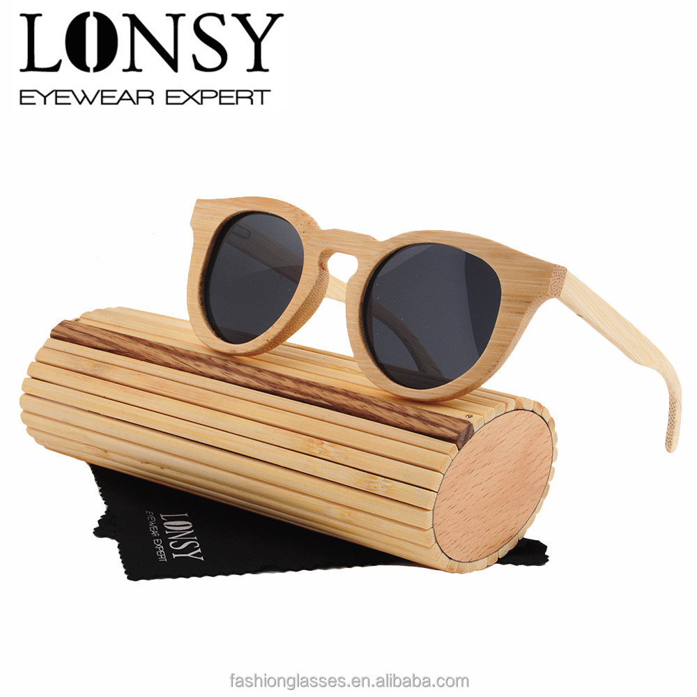 wooden Sunglasses stainless steel flex hinges, eco-friendly polarized bamboo sunglasses