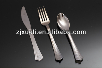 Silver plastic cutlery sets different types of table setting china cutlery & Silver Plastic Cutlery SetsDifferent Types Of Table SettingChina ...