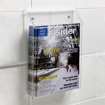Outdoor Acrylic Literature Holder For WallMagazine Holder With Lid Adorable Outdoor Magazine Holder