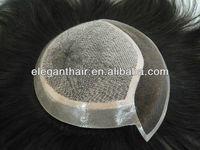 22cm*16cm,2# Curl,Stock Silk Tope Toupee