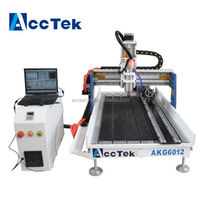 Acctek mini desktop 4 axis cnc router engraver 6012/cnc router wood carving machine for sale wood, MDF, metal, stone, aluminum