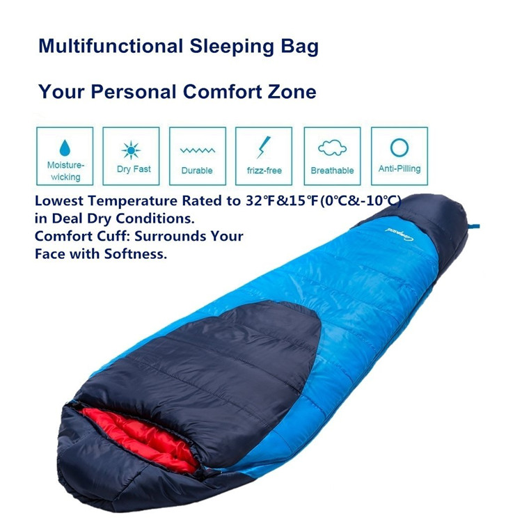 waterproof open-toed breathable sleeping bag with factory price