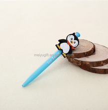 Custom Logo Cheap Advertising Promotional Soft PVC The penguin Shape Ballpoint Pen