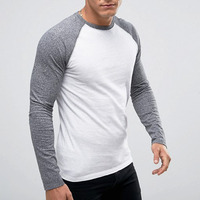 Online Shopping India Fashion Mens Clothing 100% Cotton Contrast Color Men's Tshirt Wholesale Slim Fit T Shirt For Men