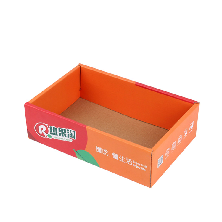 Custom Color Printed Mango Packaging Carton Box For Fresh Mango With Designs