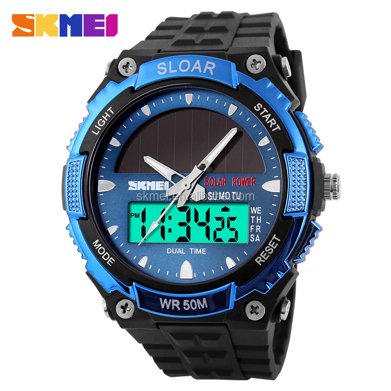 2016 SKMEI China multifunction sport solar powered watch fact