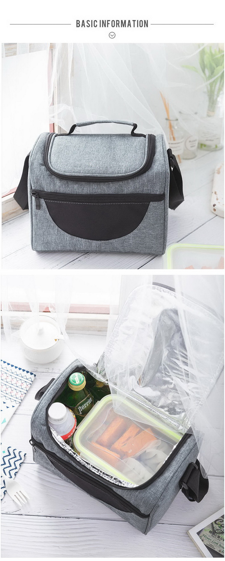 nice Customized Insulated Cooler bag with Adjustable Shoulder Strap  Lunch Bag