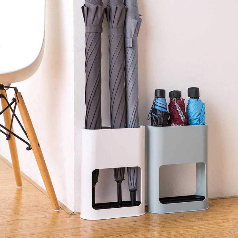 Производитель дома вестибюль 4 отверстия ABS + PP + Утюг съемный Противоскользящий дождь зонтик хранения Полка держатель