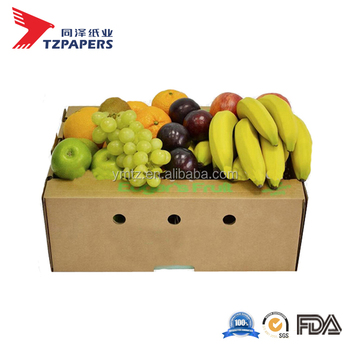 Banana/Eggplant/Cucumber Fresh Produce Top and Lid Carton Factory Direct