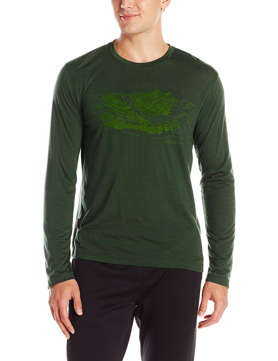 Icebreaker Tech Lite LS Crew Mtn Home Top - Men's