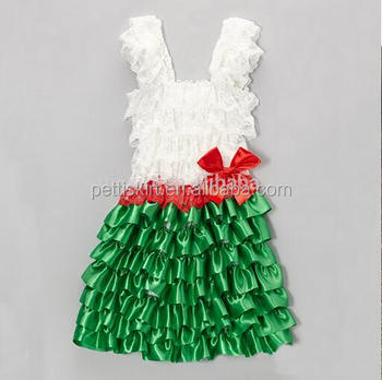 Christmas Kids Fancy Dress Costumes Children Chiffon Cake Design