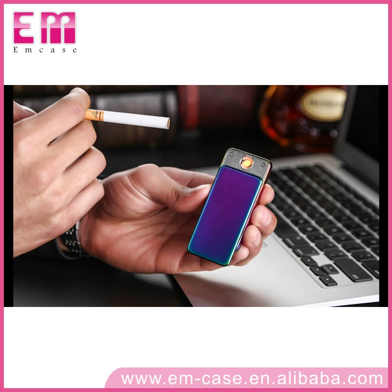 Rechargeable Electronic Cigarette Lighter Creative Slim Windproof Lighter Men Personalized Gift Custom Lettering