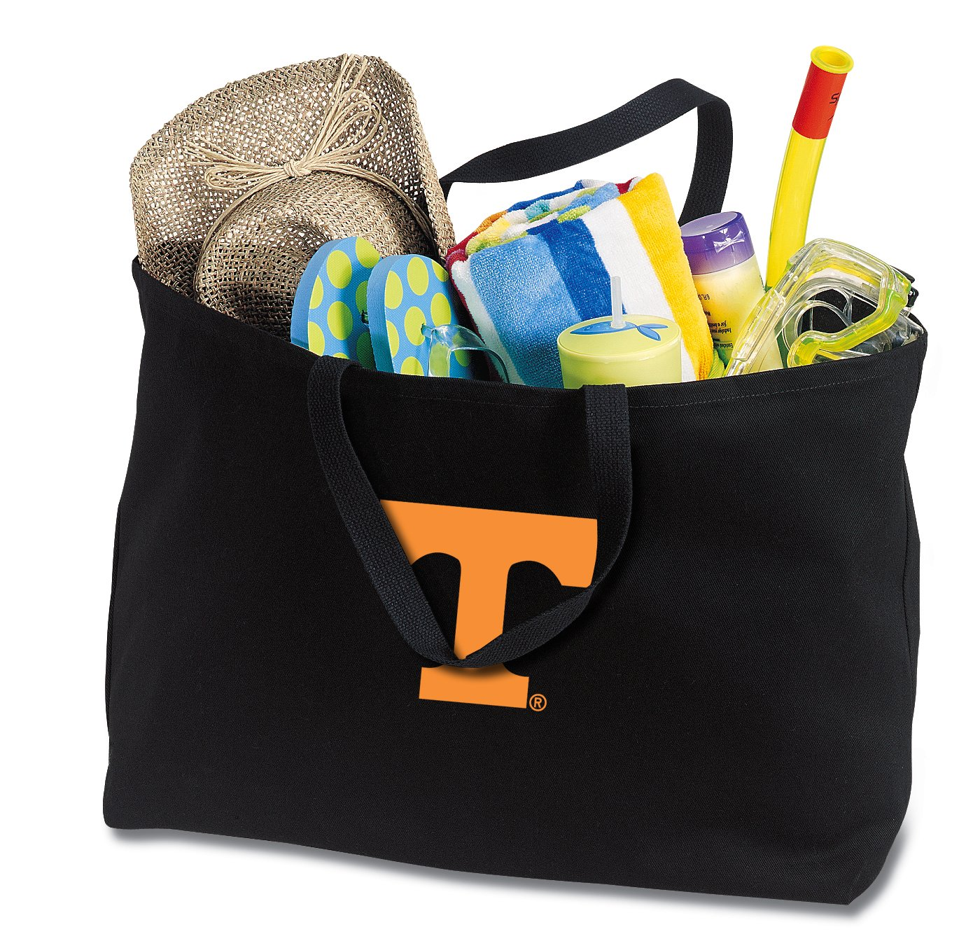 JUMBO Tennessee Vols Tote Bag or Large Canvas University of Tennessee Shopping Bag