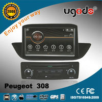 ugode for Peugeot 308 car dvd built-in gps /bluetooth/ am/fm radio/tv player